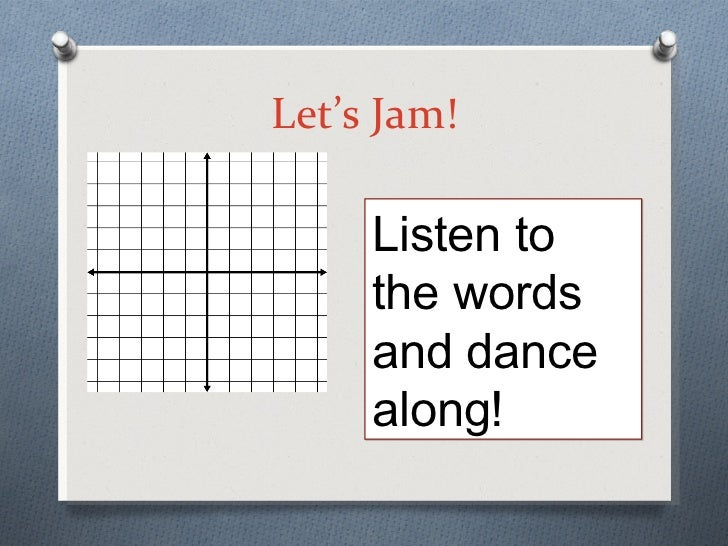 Coordinate ppt let s jam listen to the words and dance along ccuart Gallery