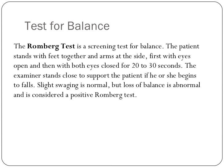 rhomberg stationary balance test