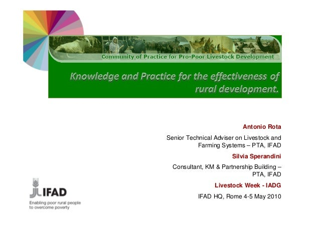Antonio RotaSenior Technical Adviser on Livestock and           Farming Systems – PTA, IFAD                       Silvia S...