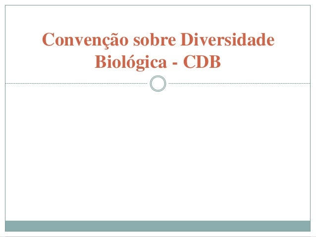 Convenção sobre Diversidade     Biológica - CDB         O QUE É      COMO FUNCIONA     PRINCIPAIS TEMAS          COP 11
