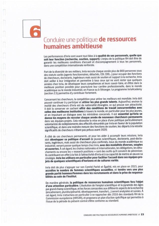 Inria - Contrat d'objectifs et de performance 2015-2019