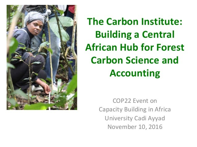 The Carbon Institute: Building a Central African Hub for Forest Carbon Science and Accounting COP22 Event on Capacity Buil...