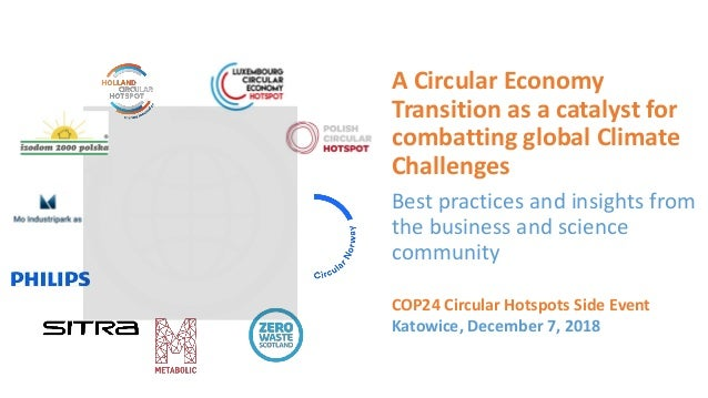 A Circular Economy Transition as a catalyst for combatting global Climate Challenges Best practices and insights from the ...
