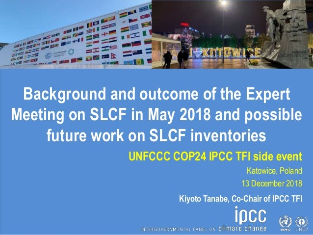 Background and outcome of the Expert Meeting on SLCF in May 2018 and possible future work on SLCF inventories UNFCCC COP24...