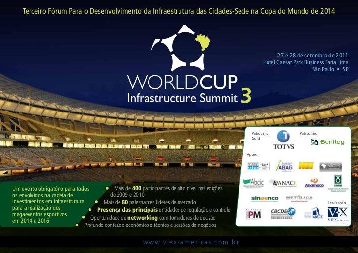 Terceiro Fórum Para o Desenvolvimento da Infraestrutura das Cidades-Sede na Copa do Mundo de 2014                         ...