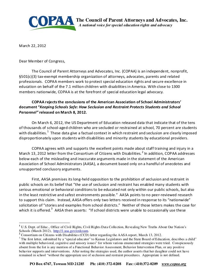 Page 1 of 6                                         The Council of Parent Attorneys and Advocates, Inc.                   ...