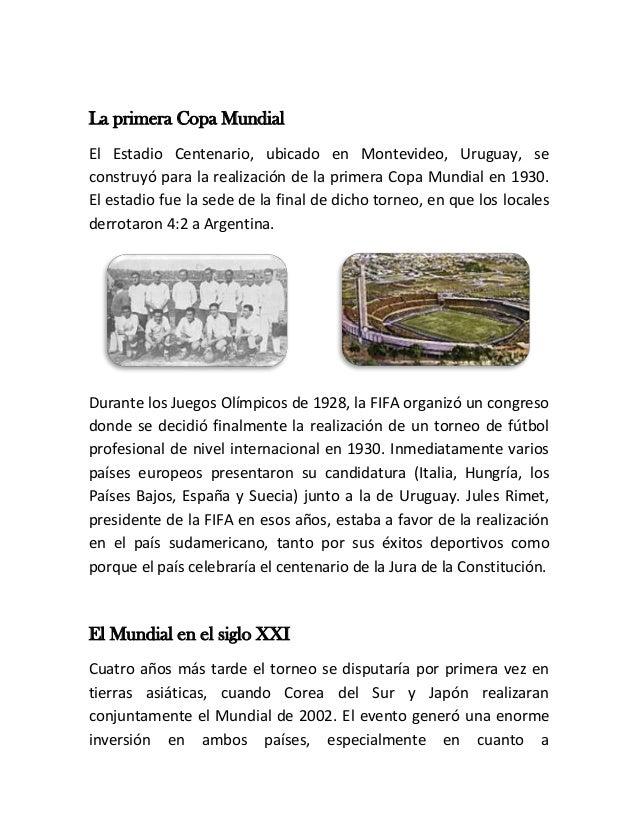 Copa mundial de fútbol Slide 2