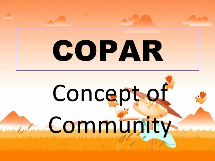 COPAR Concept of Community