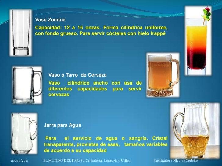 Copas y vasos del bar for Copas y vasos para bar