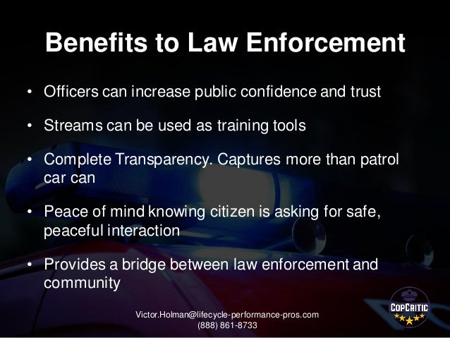 Cop critic bringing transparency to law enforcement