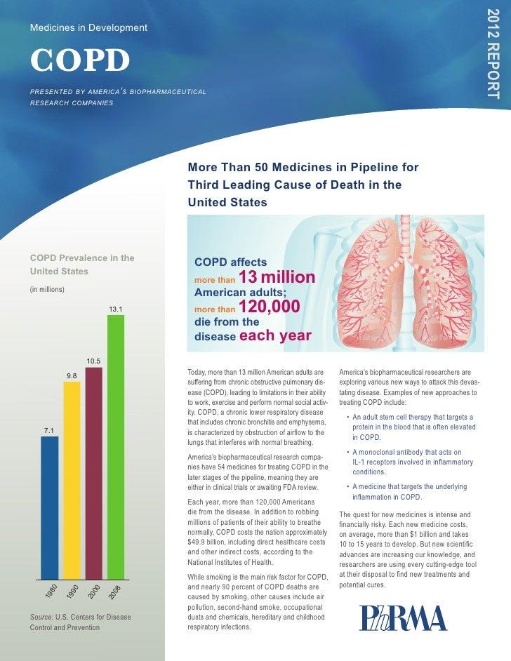 2012 RepoRtMedicines in DevelopmentCOPDpresented by america's biopharmaceuticalresearch companies                         ...