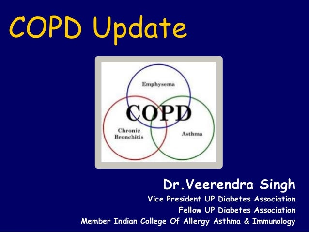 COPD Update Dr.Veerendra Singh Vice President UP Diabetes Association Fellow UP Diabetes Association Member Indian College...
