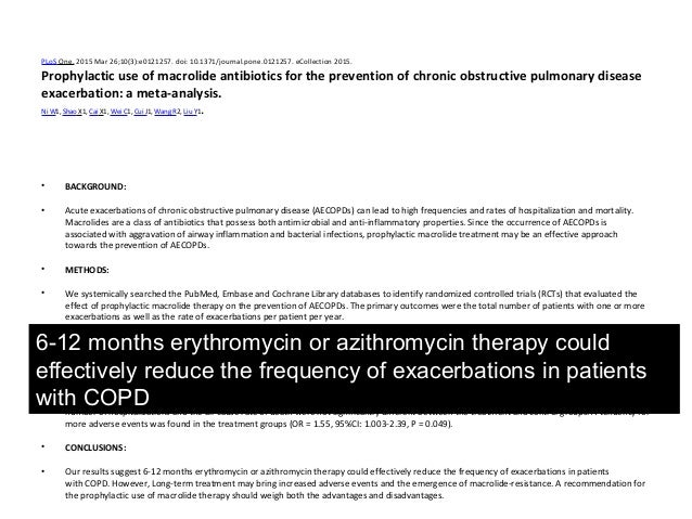 copd antibiotics