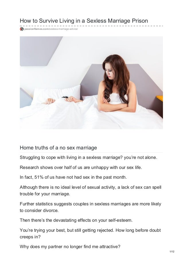 How to Cope With a Sexless Marriage