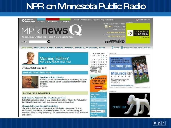 NPR on Minnesota Public Radio