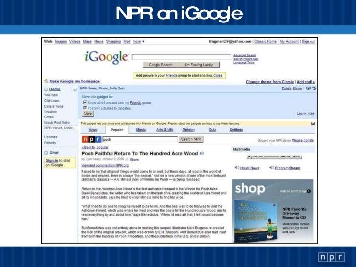 NPR on iGoogle