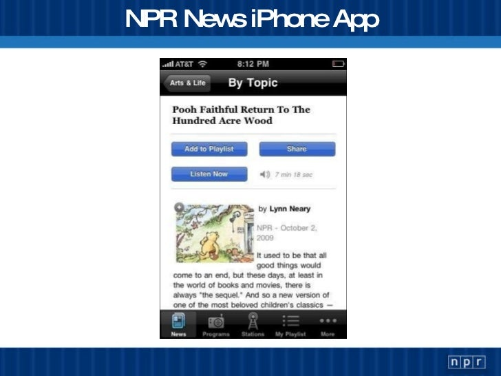 NPR News iPhone App