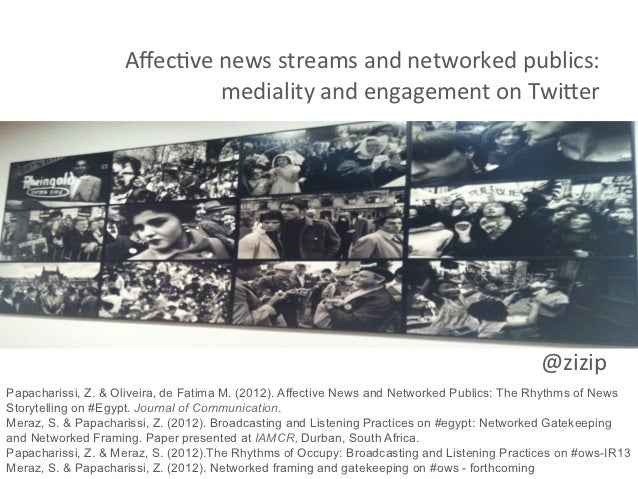 Affec&ve news streams and networked publics:                                mediality an...