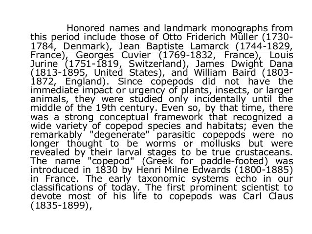 Honored names and landmark monographs from this period include those of Otto Friderich Müller (1730- 1784, Denmark), Jean ...