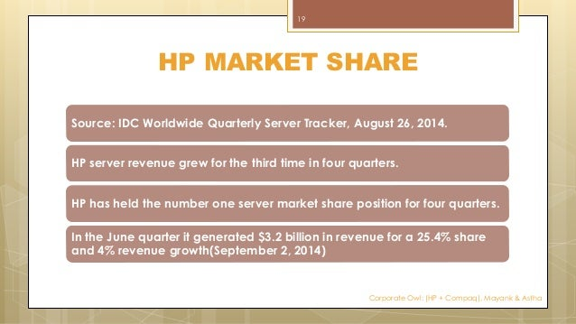 the merger of hp and compaq strategy and valuation