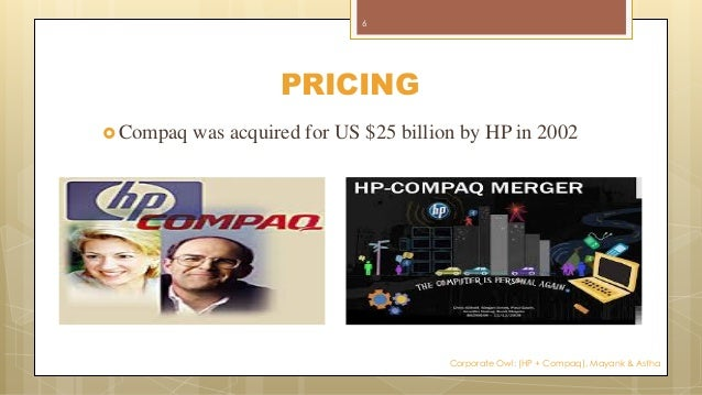 the hewlett packard and compaq merger analysis In 2002, a money manager is considering how to vote her shares in hewlett-packard on the proposal to merge with compaq the a case presents information about the strategic and financial motivations of the merger.