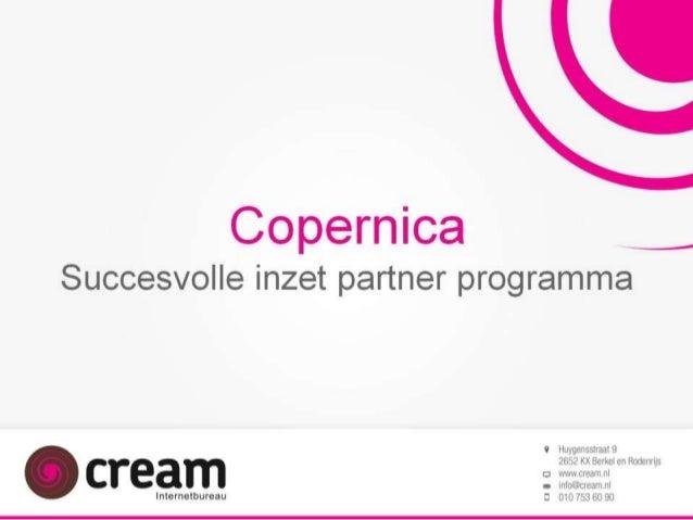 Presentatie Cream - Copernica partnerdag 27-06-2013