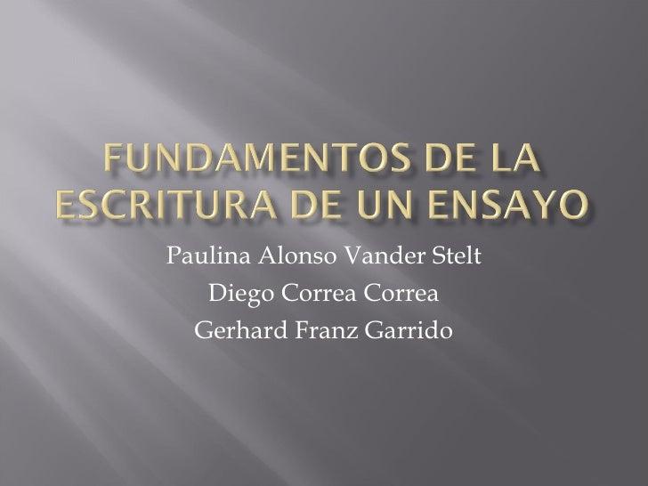 Paulina Alonso Vander Stelt Diego Correa Correa Gerhard Franz Garrido