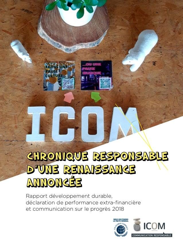 Rapport développement durable, déclaration de performance extra-financière et communication sur le progrès 2018