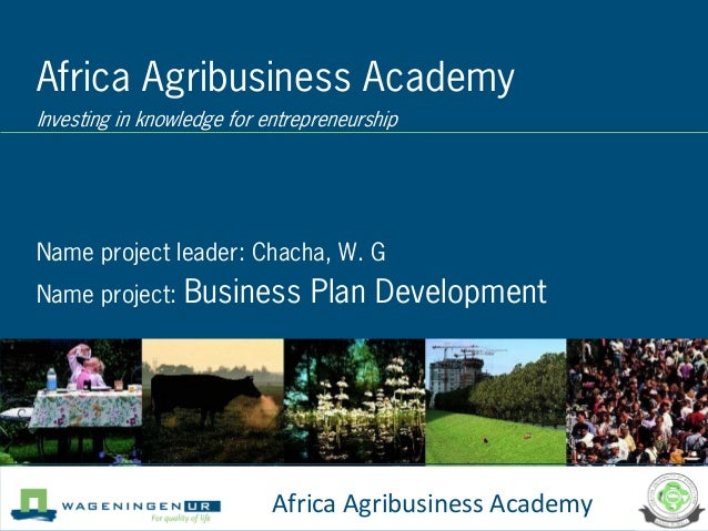 Africa Agribusiness AcademyInvesting in knowledge for entrepreneurshipName project leader: Chacha, W. GName project: Busin...