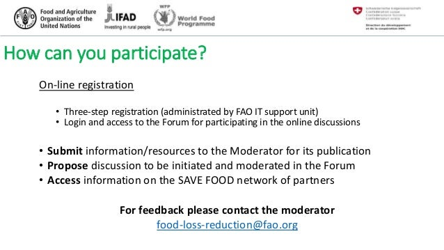 Community of Practice (CoP) on food loss reduction a global