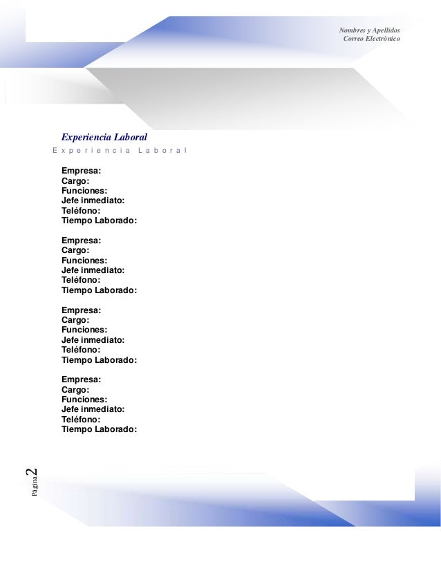 Copia (5) de formato dinàmico hoja de vida Slide 2