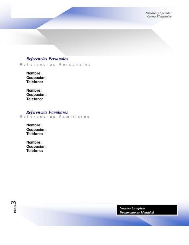 Copia (5) de formato dinàmico hoja de vida Slide 3