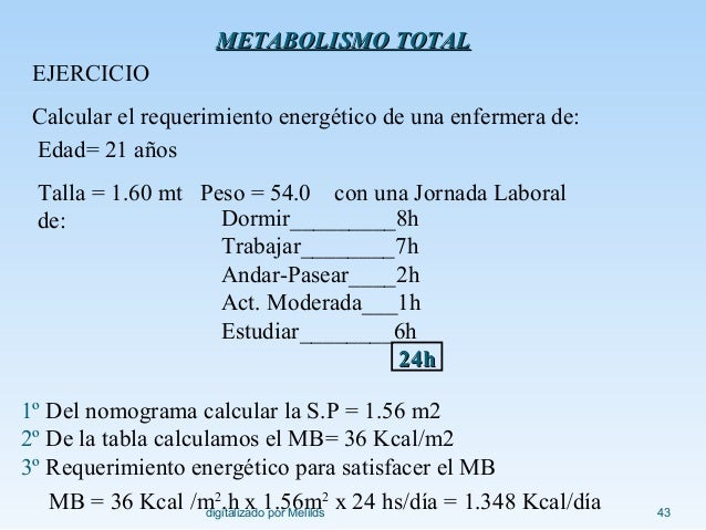 ENZIMAS: metabolismo basal