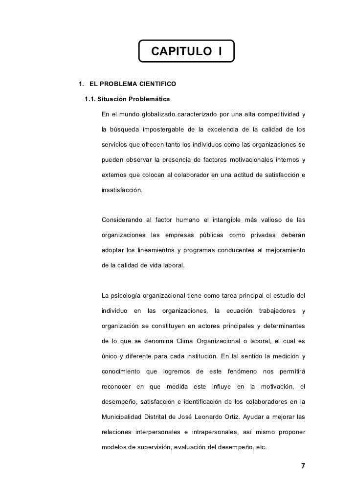 CAPITULO I  1. EL PROBLEMA CIENTIFICO   1.1. Situación Problemática        En el mundo globalizado caracterizado por una a...