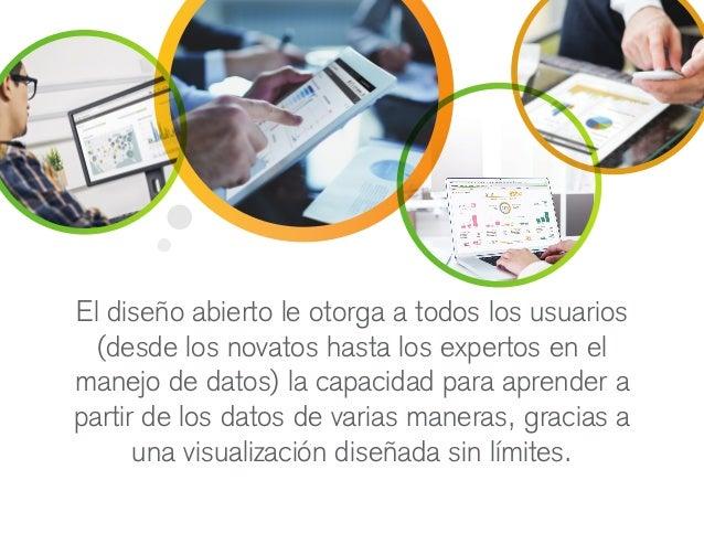 El diseño abierto le otorga a todos los usuarios (desde los novatos hasta los expertos en el manejo de datos) la capacidad...