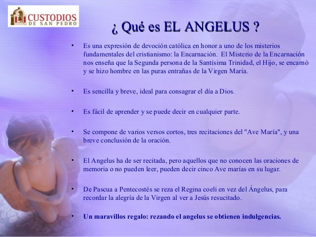 Oracion Del Angelus Para Niños