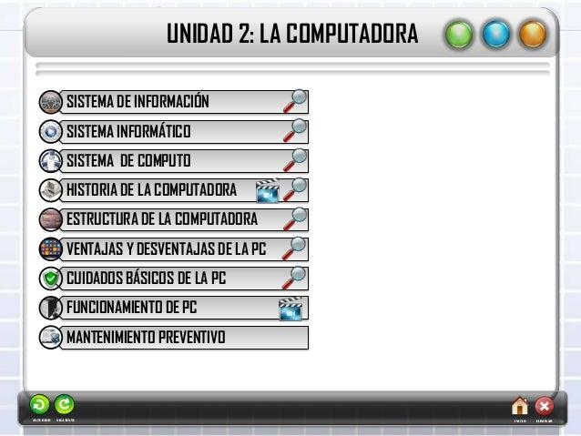 UNIDAD 2: LA COMPUTADORAINICIOSIGUIENTE ELIMINARANTERIORSISTEMA DE INFORMACIÓNSISTEMA INFORMÁTICOSISTEMA DE COMPUTOHISTORI...