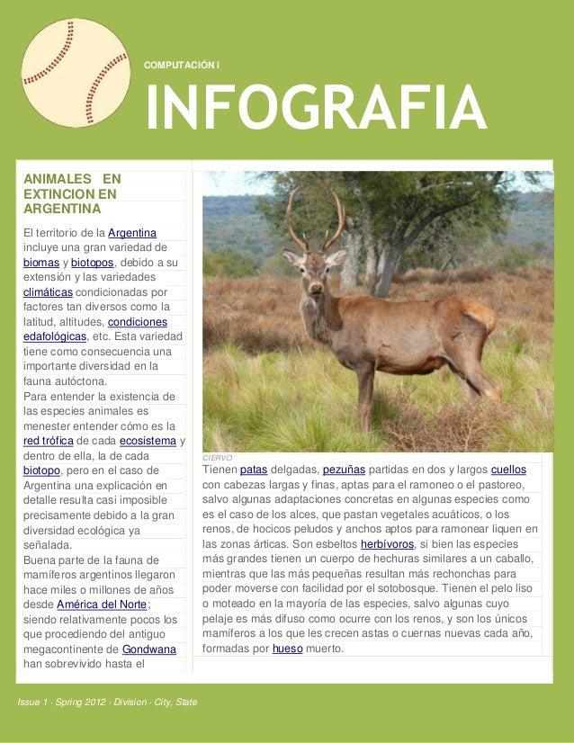 COMPUTACIÓN I                                INFOGRAFIA ANIMALES EN EXTINCION EN ARGENTINA El territorio de la Argentina i...