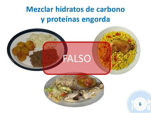 Resultado de imagen de mezclar hidratos de carbono y proteinas engorda