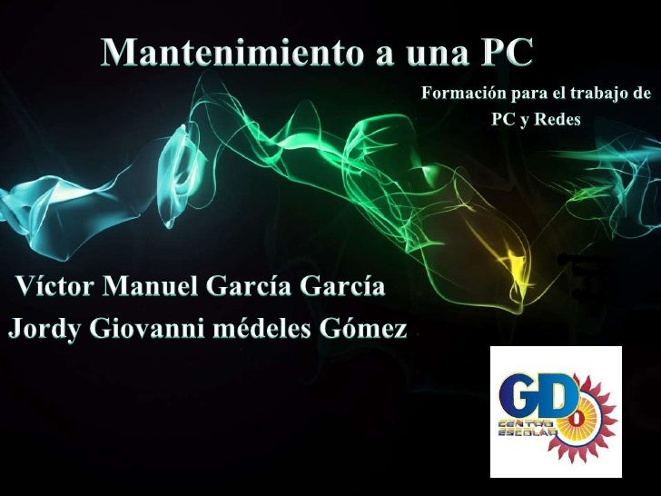 MANTENIMIENTO PREVENTIVO AL   HARDWARE