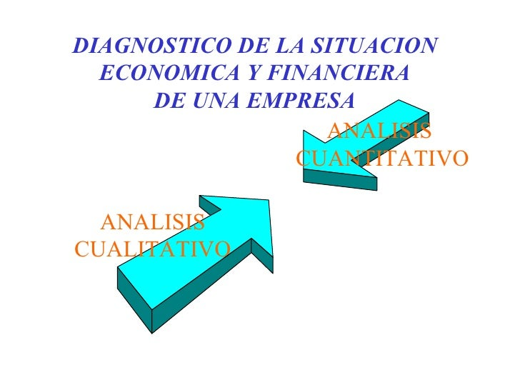 DIAGNOSTICO DE LA SITUACION ECONOMICA Y FINANCIERA DE UNA EMPRESA ANALISIS CUALITATIVO ANALISIS  CUANTITATIVO