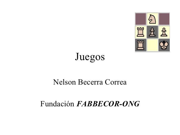 Juegos Nelson Becerra Correa Fundación  FABBECOR-ONG