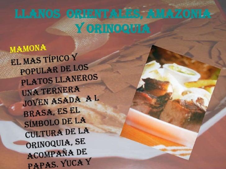 Platos colombianos - Comodas orientales ...