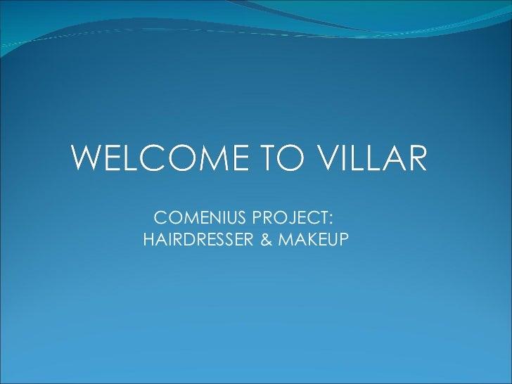 COMENIUS PROJECT: HAIRDRESSER & MAKEUP