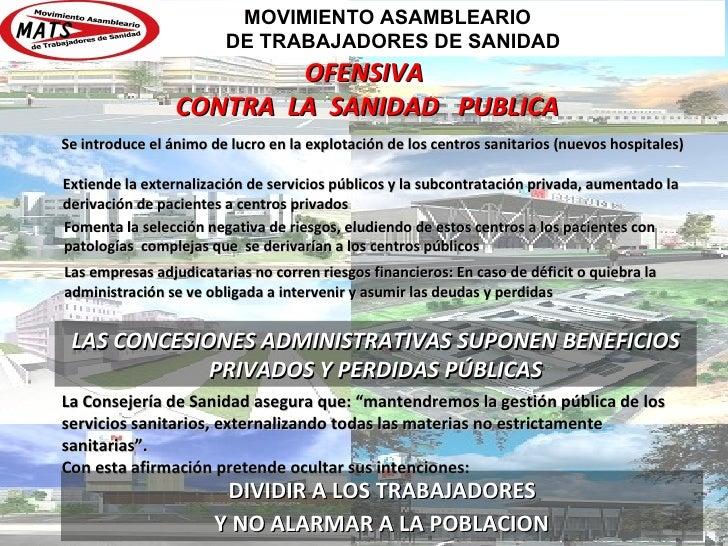 MOVIMIENTO ASAMBLEARIO                        DE TRABAJADORES DE SANIDAD                         OFENSIVA                 ...
