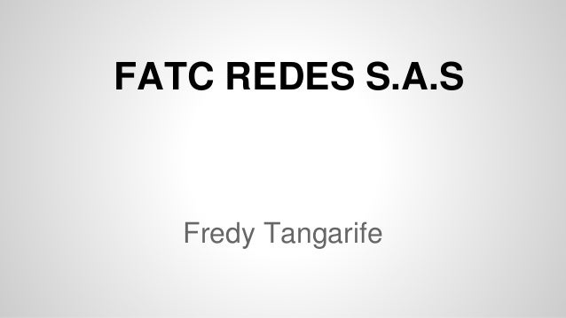 Fredy Tangarife FATC REDES S.A.S