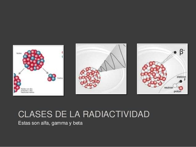 PARTÍCULA ALFA• Partícula alfa: Son flujos de partículas cargadaspositivamente compuestas por dos neutrones y dosprotones ...