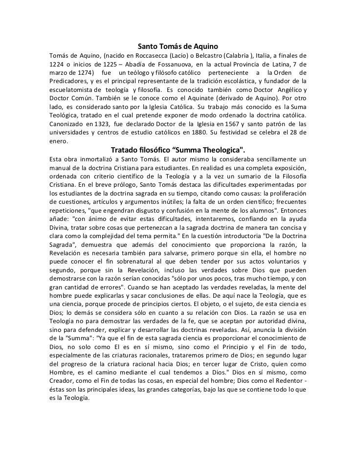 Santo Tomás de AquinoTomás de Aquino, (nacido en Roccasecca (Lacio) o Belcastro (Calabria ), Italia, a finales de1224 o in...