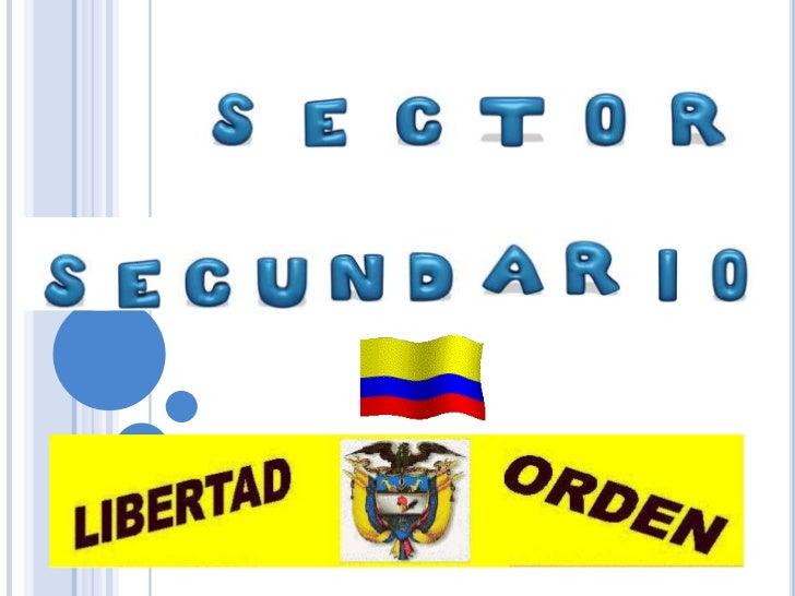 sector industrial en colombia Slide 1