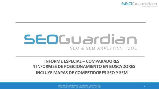 INFORME ESPECIAL – COMPARADORES 4 INFORMES DE POSICIONAMIENTO EN BUSCADORES INCLUYE MAPAS DE COMPETIDORES SEO Y SEM 1 ES17...